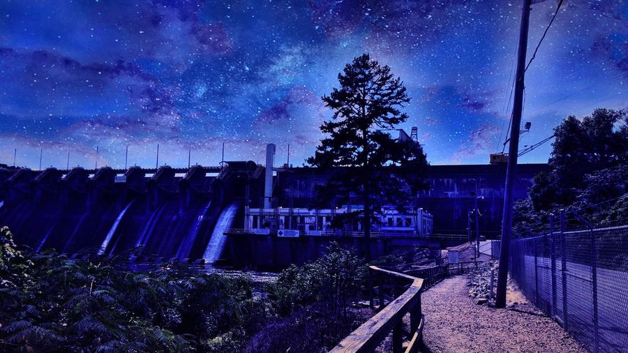Tree Sky Star - Space Tranquil Scene Blue Taking Photos Check This Out Arkansas Water Filters One Of My Favorites Dam Edited River