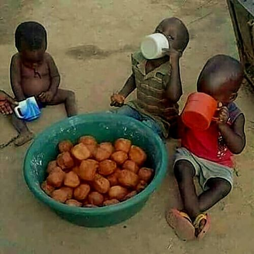Breakfast Heavy Breakfast African African Children Eat And Eat Mega Eating HerSun256 HerSun First Eyeem Photo