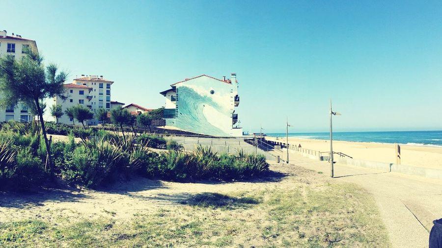 Beach Sea Clear Sky Water Wave Hossegor Beach First Eyeem Photo
