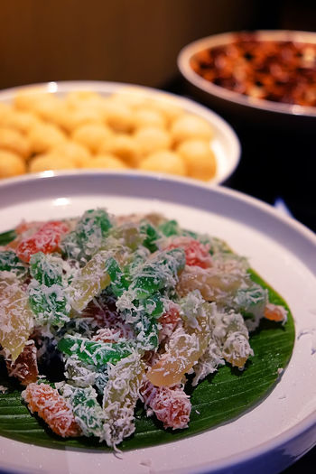 Cenil is a colour full traditional snack from Cental of Java Indonesian Food Snack Cenil Food Food And Drink Java Foods Java Indonesia Plate Snock Table Traditional Food Traditional Food Of Indonesia