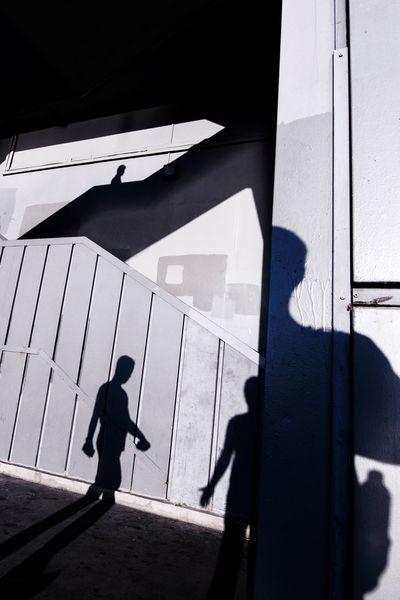 Streetphotography Street Photography EyeEm Silhouettes Urban Urban Geometry Urbanphotography Street People Geometry Istanbul Galata Shadow Shadow Silhouette Full Length Architecture Focus On Shadow Stairs Street Scene