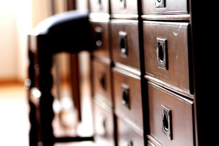 Close-up of locker