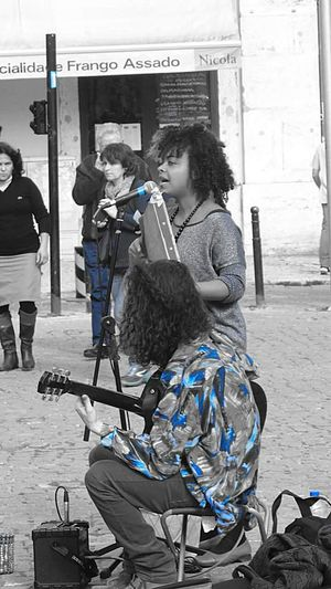 Music music brings us together Lisbon Humansoflisbon Streetphotography Streetartists Streetperformers Outdoors