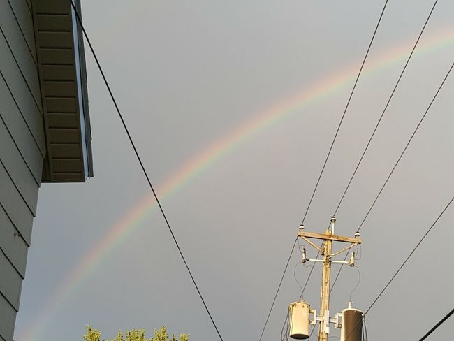 Rainbow Double Rainbow Multi Colored No People Low Angle View Spectrum Outdoors Sky Refraction