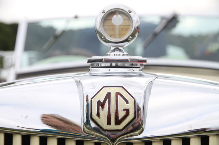 MG  Badge Car Close-up Day Decal Focus On Foreground Hood Emblem Land Vehicle Metal Mode Of Transport No People Outdoors Speedometer Transportation