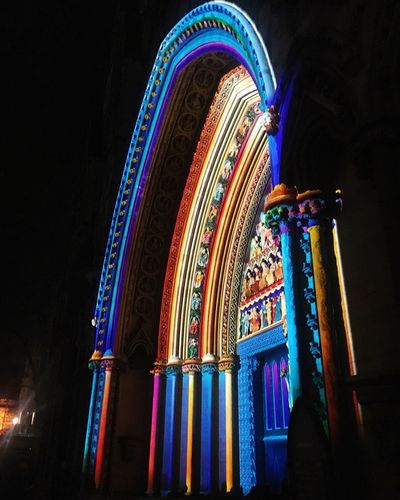 Lumiere at Westminster Abbey Walking Home From Work Love London London Lumiere Festival LumiereLDN Lumière Lumiere 2018 Lumiere London No People