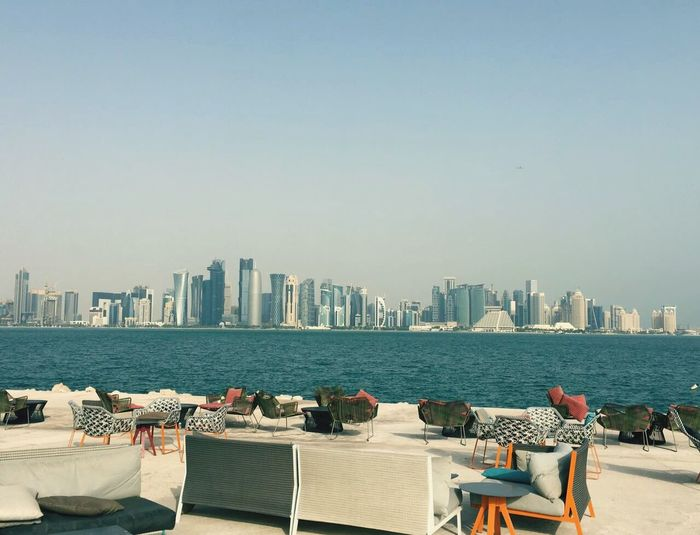 Doha, Qatar City Cityscape Doha,Qatar Horizon Over Water Sea Day No People Nature First Eyeem Photo