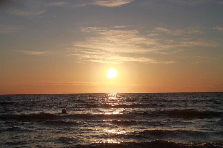 Atmosphere Atmospheric Mood Beauty In Nature Distant Horizon Over Water Idyllic Light LVC Majestic Nature Outdoors Rippled Scenics Sea Seascape Sun Sunrise Sunset Surf Water Waterfront Wave Zinnowitz