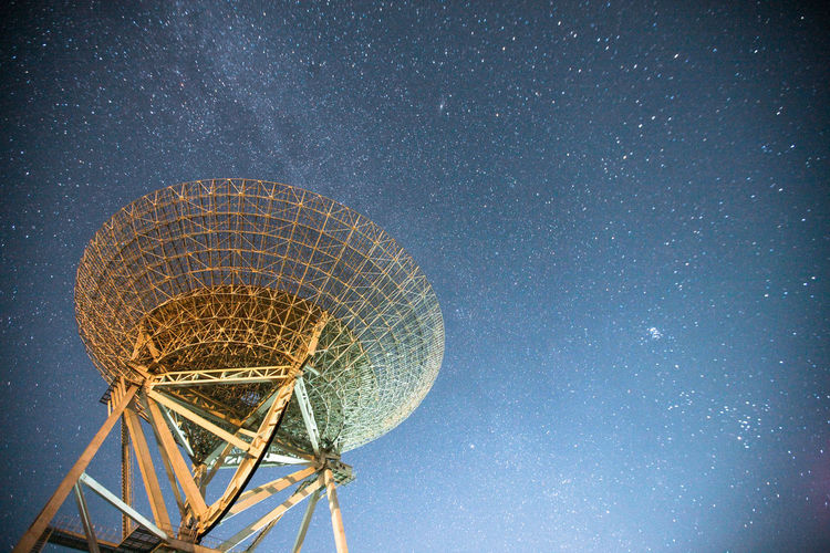 Astronomy Astronomy Telescope Beauty In Nature Close-up Galaxy Global Communications Low Angle View Milky Way Nature Night No People Outdoors Science Sky Space Space Exploration Star - Space Star Trail Technology