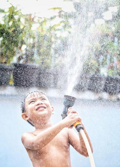 Water Splashing In Pond