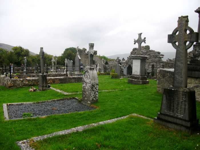 Tombstone Cemetery Memorial Gotic Celtic Cross Celtic Ireland Green History Past
