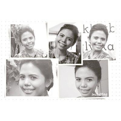 Me Indonesianwomen Happysunday with Smile Blackandwhite Senyumindonesia