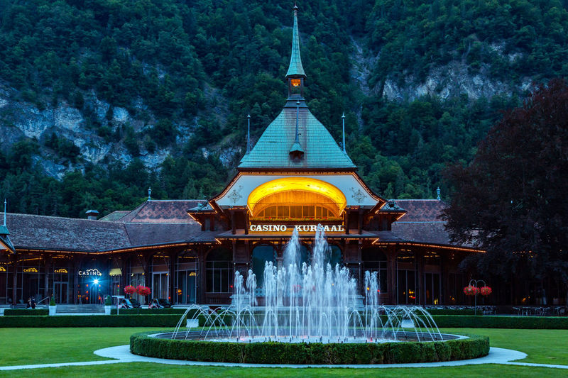 Casino Architecture Beauty In Nature Building Exterior Built Structure Casino Night Day Fountain Grass Green Color Nature No People Outdoors Place Of Worship Religion Shrine Sky Spirituality Travel Travel Destinations Tree Water