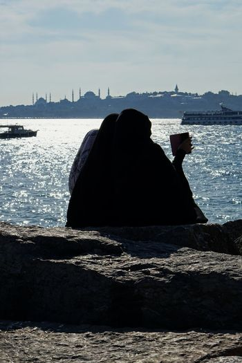 My impressions of Istanbul Burka  Getting Away From It All Hijab Horizon Over Water Istanbul Istanbul Turkey Niqab Ocean Religion Shore Turkey Water Wave