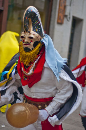 xinzo de limia carnival Xinzo De Limia Carnibal Du Loup Day Front View One Person Outdoors Real People Red Xinzo De Limia Carnival