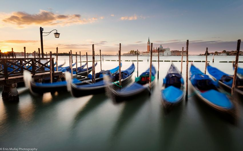 Venice Gondolas Sunrise First Eyeem Photo