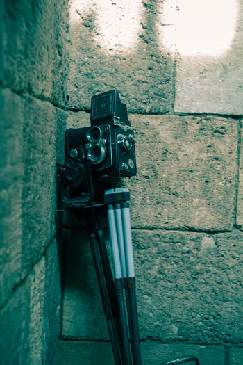 8mm Camera 8mm Film Camera Antique Graded Old Still Life Street Photography Wall - Building Feature