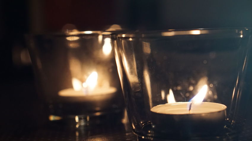 Blur Blurred Background Blurred Lights Candle Candlelight Close-up Evening Focus Focus On Foreground Illuminated Light No People