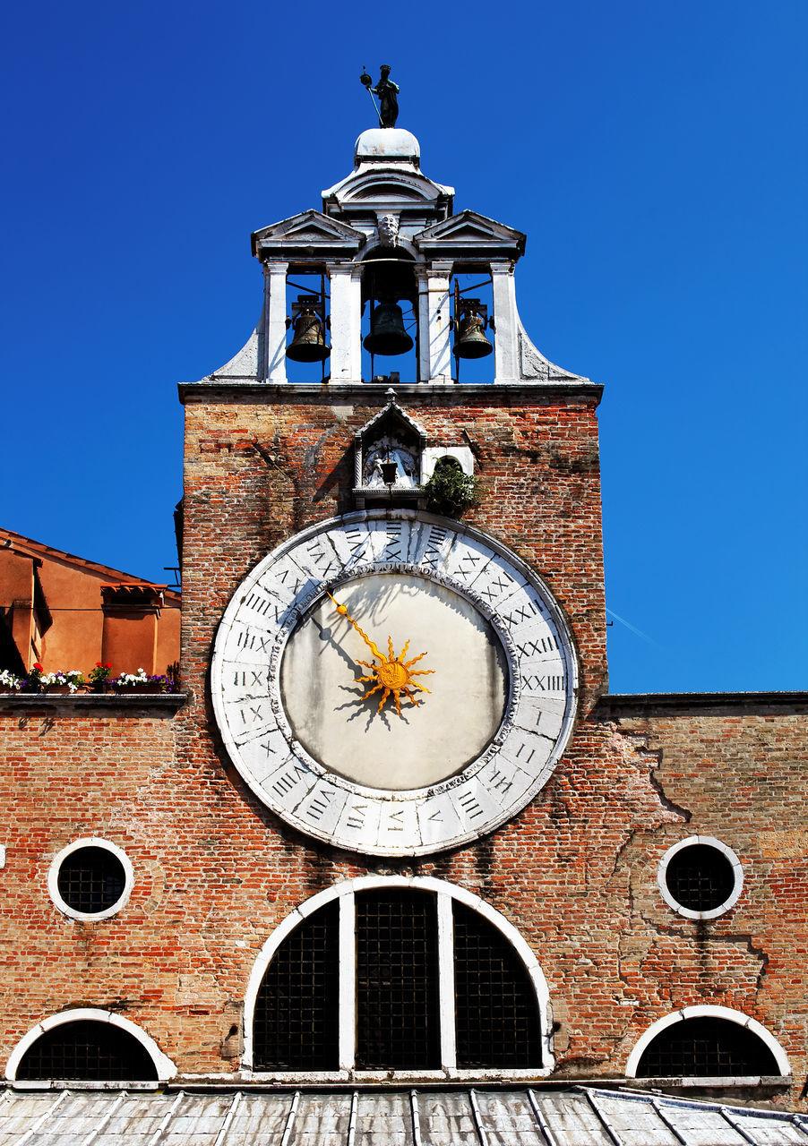 High Section Of San Giacomo Di Rialto Against Clear Blue Sky