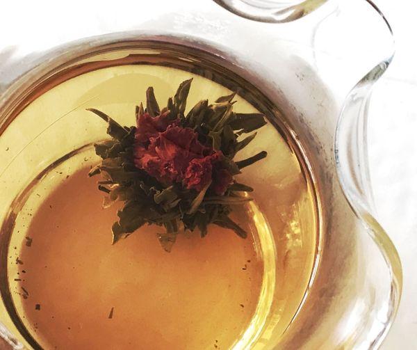 Green tea steeping Tea For Health Steeping Tea Green Tea Flower Indoors  No People Close-up Flowering Plant