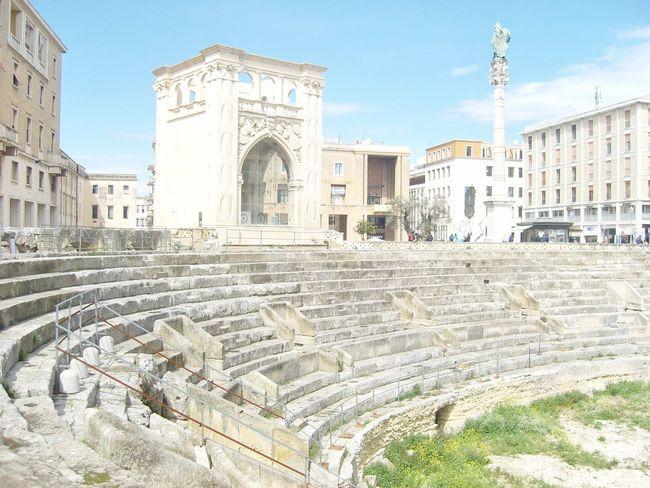 Old Buildings Architecture Centro Storico Pugliagram Puglia Old Tourism Lecce Lecce City Roman Ruins