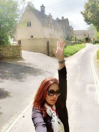 My 'I was here' trademark pose 😍 Enjoying Nature Adventure Time! Beautiful Place Solotraveler Travelingwithselfiestick Costwolds London For My Own Photo Journal Summer2014 😍❤️