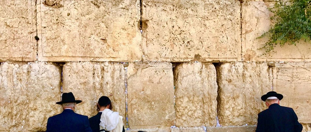 the wall of laments jerusalem Real People Wall - Building Feature Men Rear View Group Of People Day Lifestyles
