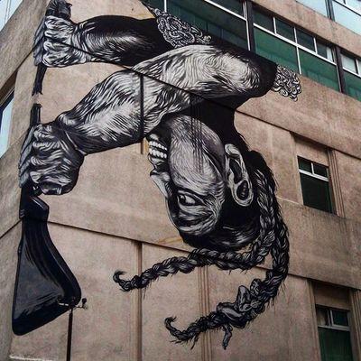 Arte urbano, siempre es el mejor! Impresionante Enamoradadel Arteurbano Buenísimo centrohistorico sorprendiendome