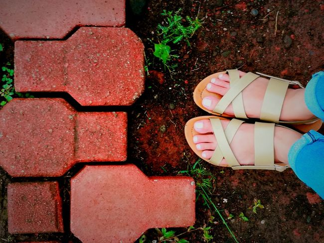 I was.. 👣 Red Bricks Low Section One Person Outdoors High Angle View Day Standing Human Leg Real People One Woman Only People Only Women Adult Eyeem Philippines Huaweigr52017 Phone Photography Summer Young Adult Casual Clothing EyeEm Gallery Philippines EyeEm Best Shots Human Body Part Leisure Activity