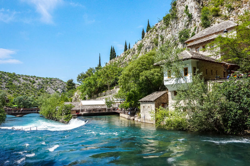 Blagaj Blagaj Tekija Bosnia And Herzegovina Mostar Nature Rock Travel Architecture Beauty In Nature Beauty In Nature Building Building Exterior Built Structure House Mountain Nature No People Outdoors Religion Scenics - Nature Tourism Travel Destinations Tree Water Waterfront
