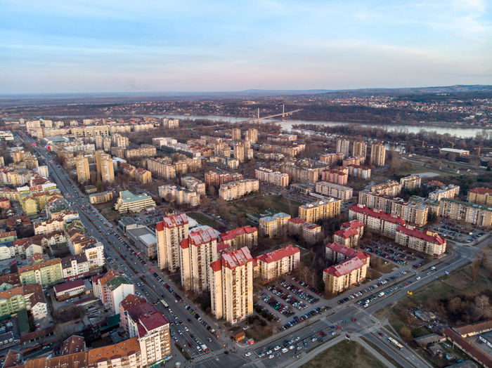 Building Exterior Architecture Built Structure Cityscape City Sky High Angle View Aerial View Building Cloud - Sky Nature No People Day Residential District Horizon Travel Destinations Outdoors Horizon Over Land Office Building Exterior Skyscraper Novisad