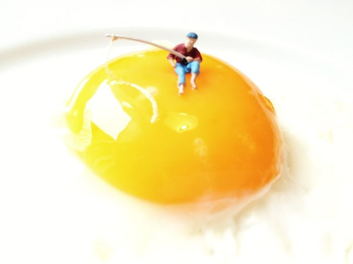 Fried Eggs Sunny Side Up Fresh 3 Miniature Don't Play With Your Food ? Fishing In Troubled Waters Visual Feast