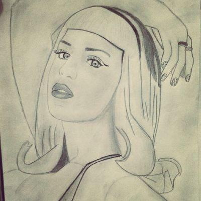 Desenho da @katyperry que minha mana fez Draw