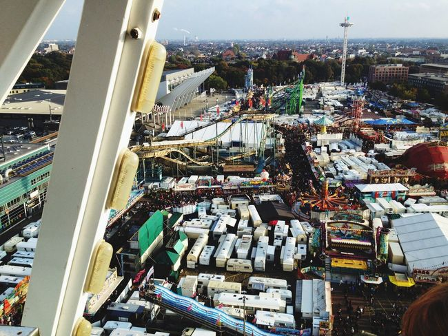 Riesenrad Bremer Freimarkt From Above  Ischa Freimaak