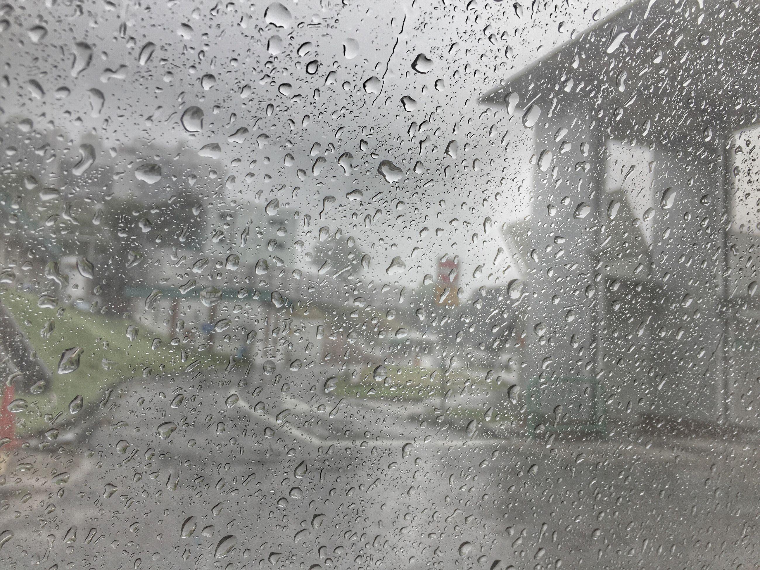 drop, wet, window, rain, transparent, glass - material, water, indoors, weather, raindrop, season, car, glass, monsoon, transportation, vehicle interior, sky, rainy season, full frame, mode of transport