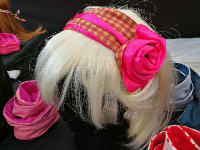 bandana for women Attractive Bandana Beauty Dummy Dummy Heads Fashion Headshot Market Person Pink Pink Color Pretty Studio Shot Style Stylish Wig Young Adult Young Women