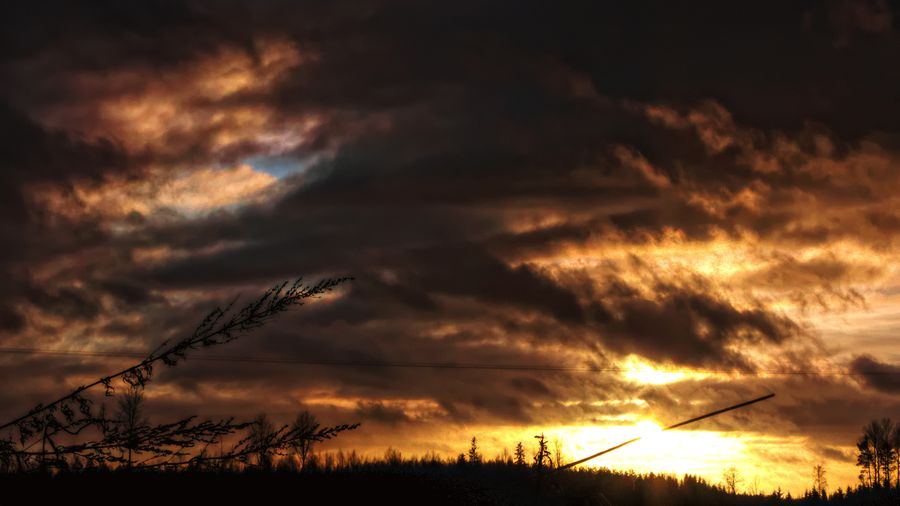 Sunset Sky No People Silhouette Cloud - Sky Outdoors Nature Scenics Beauty In Nature