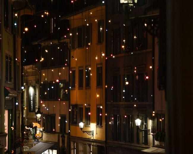 Lightfast in Zurich last Tuesday! Lightfast City Zurich, Switzerland Night Christmas Lights Christmastime Old Town