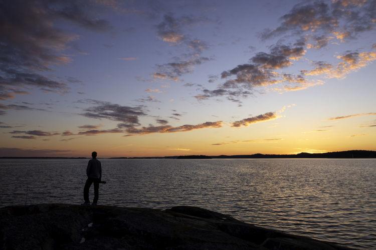 man in sunset
