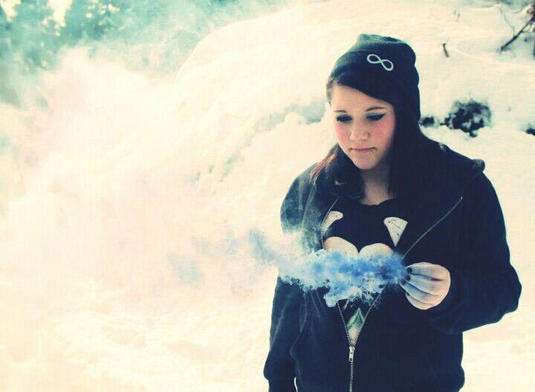 Shooting Winter Blue Snow