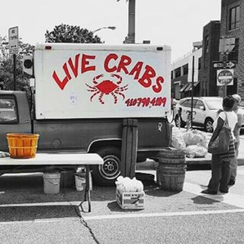 I love Baltimore ! Baltimorefarmersmarket Crabs Colors Colorsofbaltimore BaltimoreMaryland Livecrabs SundayFunday Sundaymarket Galaxys6 Baltimorehon Bmore Charmcity