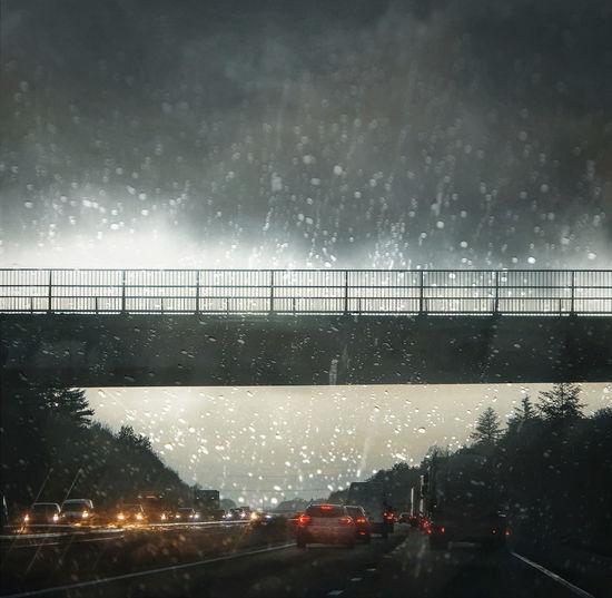 Bridge against sky during rainy season