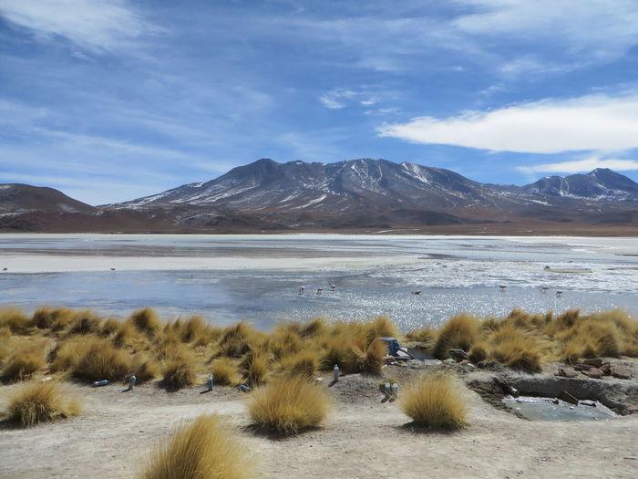 Aweinspiring Bolivia Canon SX280 Lake Mountain Mountain Range Mountain View Mountains Shallow Water Sky Solo Traveler! Uyuni Salt Flat Wide Open Spaces
