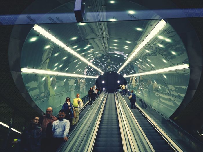 Stairs Public Transportation Warsaw Subway Station Metro Station