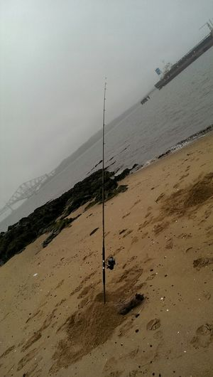 Taking Photos Seafishing Relaxing TheGreatOutdoors Outdoor Photography Enjoying Life Sea Seaside Beachporn Sea And Sky Beach Seaview Beach Photography Foggy Day Beachfishing Cold Weather Fog Fishing