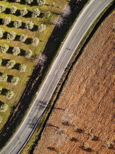 Top down view of road between fields Top Down View Drone Photograph DJI Mavic Air DJI X Eyeem High Angle View No People Day Pattern Close-up Nature Full Frame Land Vehicle Wet Water Road Motor Vehicle Textured  Mode Of Transportation Tire Metal Sunlight Car Transportation Outdoors