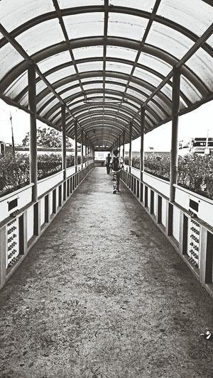 Foot Bridge Ateneo Symmetry EyeEm Best Shots - Black + White