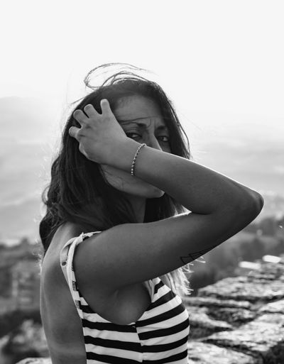Volterra EyeEm EyeEm Best Shots EyeEm Gallery EyeEmNewHere Portrait Of A Woman The Week On EyeEm Travel Tuscany Blackandwhite Childhood Day Europe Eye4photography  Happiness Italy Leisure Activity Lifestyles Looking At Camera One Person Outdoors People Portrait Real People Sky Standing Sunglasses Travel Destinations Volterra Young Adult Young Women Black And White Friday