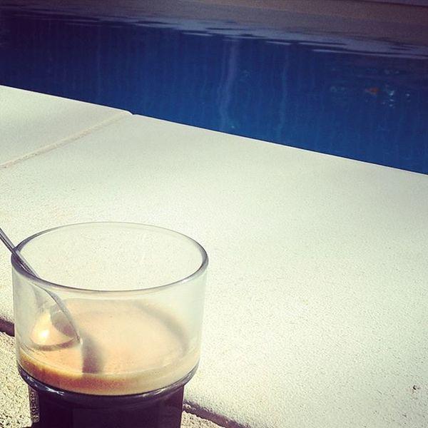 Instacaf bleu marine. Caf Coffee Morning Instadaily Poollife Home