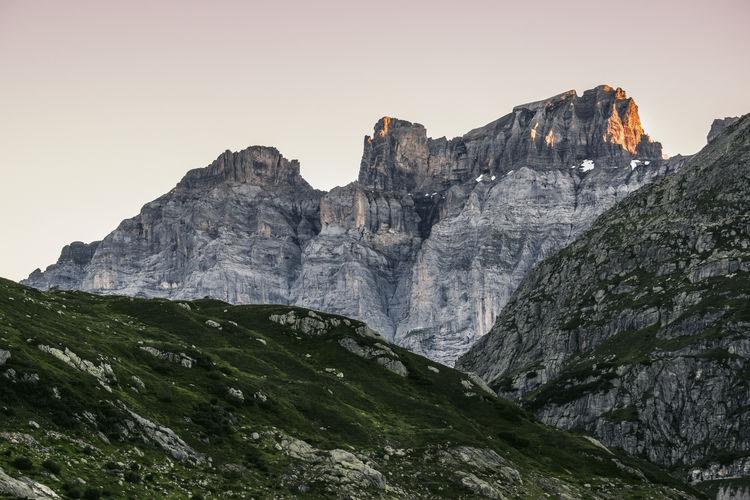 Adventure Clear Sky Cliff Height High Landscape Mountain Nature Outdoors Peak Scenery Scenics Sustenpass Swiss Alps Switzerland
